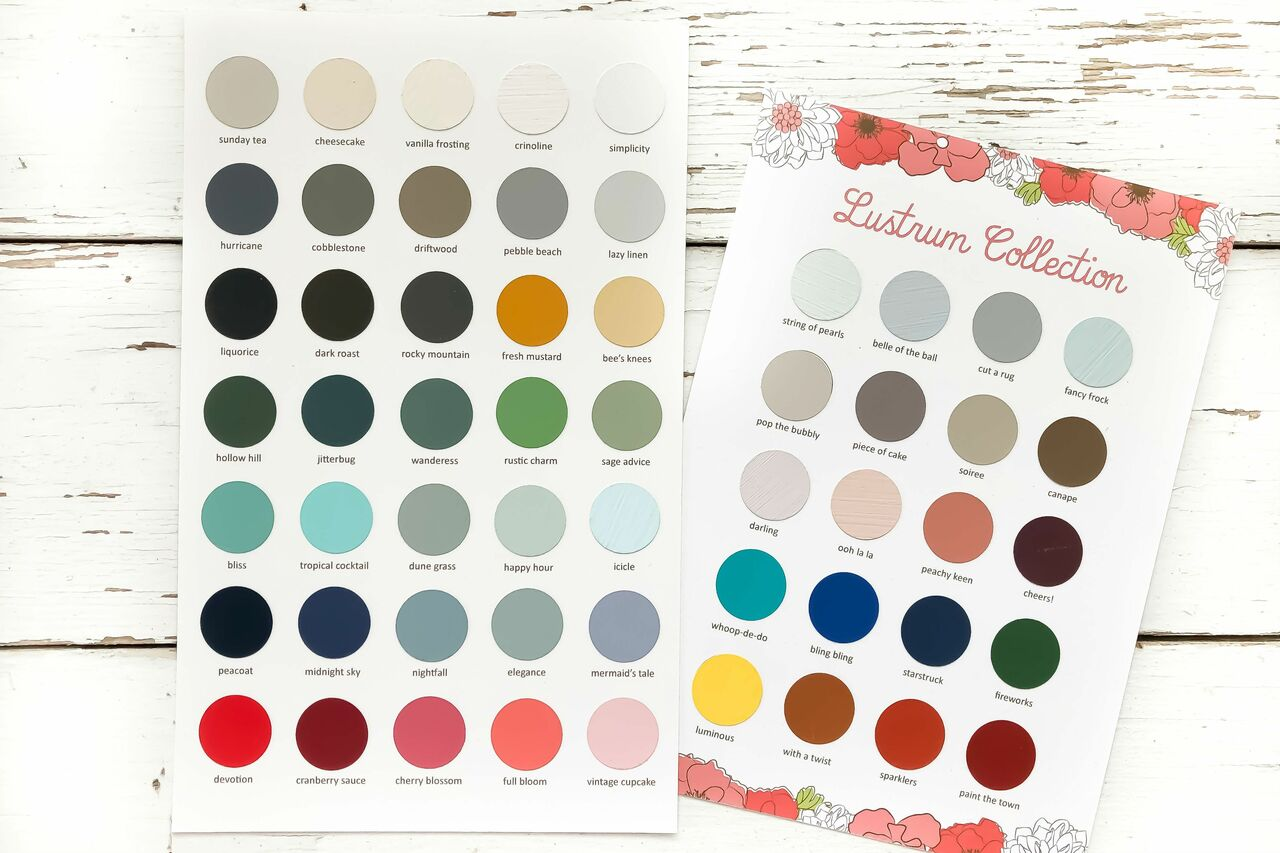 Country Chic Paint Hand Painted Colour Cards