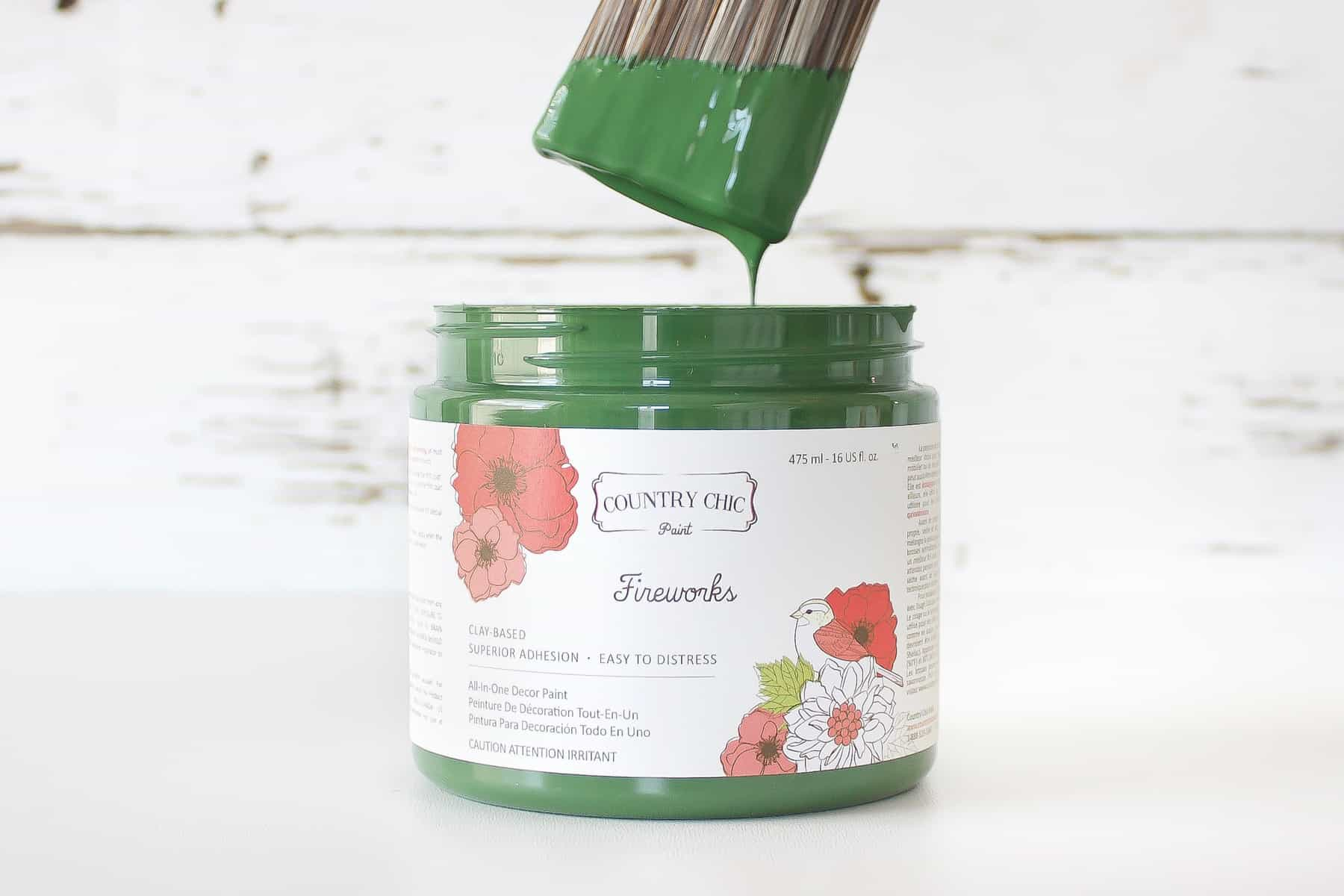 emerald green chalk style furniture paint