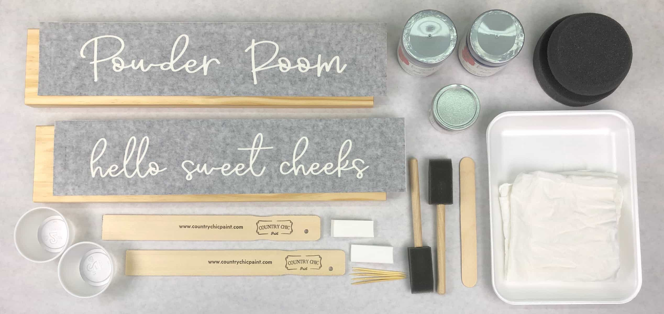 painted home decor with eco-friendly furniture paint from Country Chic Paint