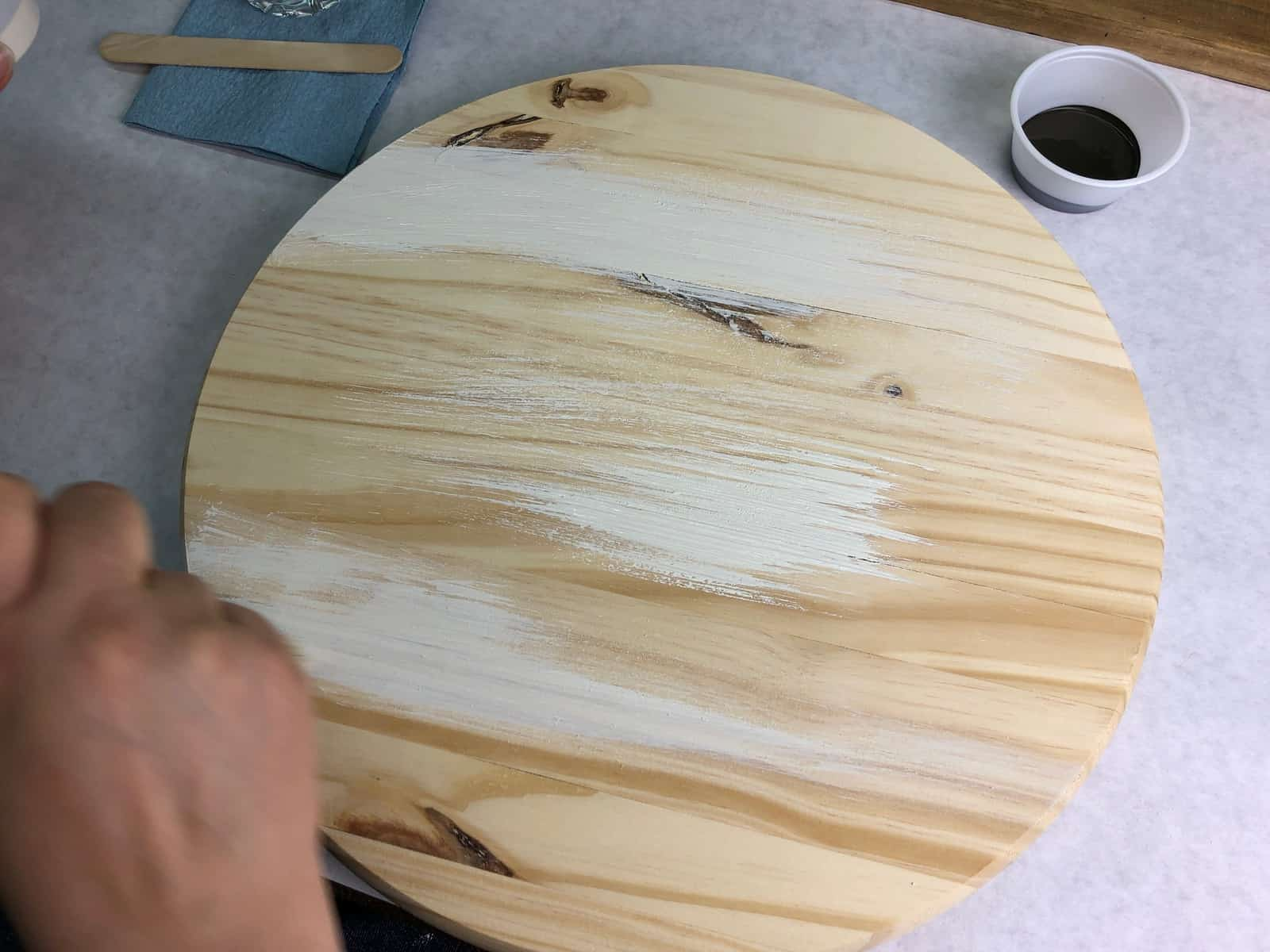 DIY Rustic Wooden Serving Tray Craft Project Tutorial with furniture paint from Country Chic Paint
