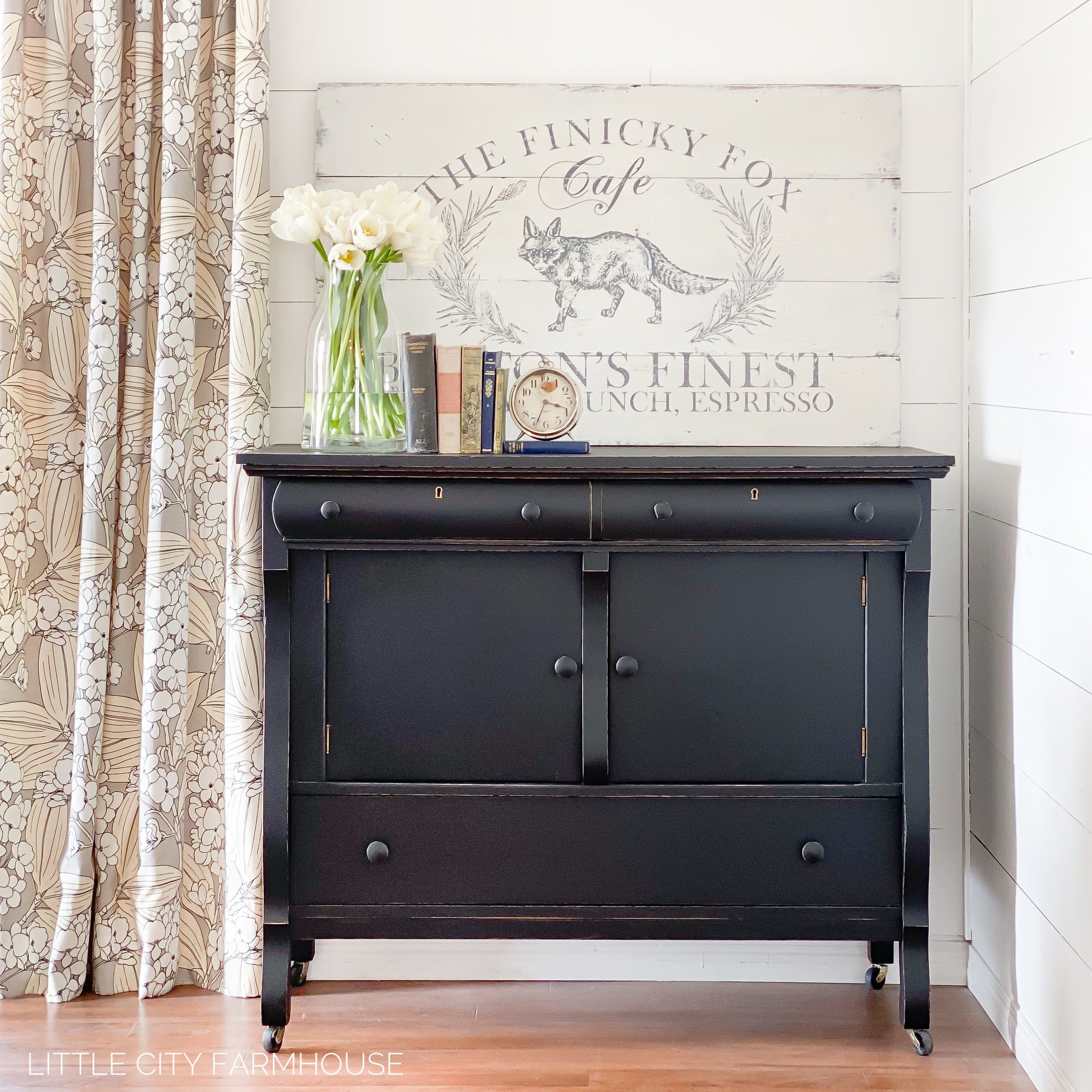 Empire Storage Cabinet with Casters in Liquorice