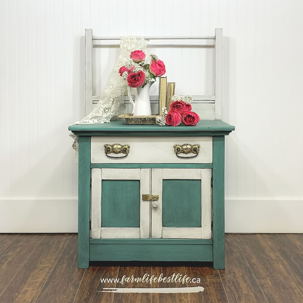 Small Storage Cabinet/Table in Wanderess and Vanilla Frosting