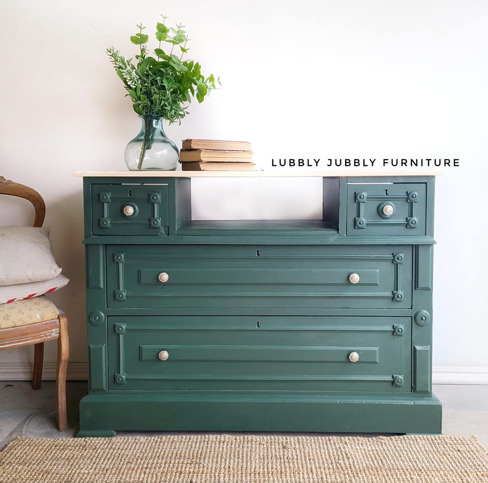 Storage Cabinet/Dresser in Wanderess with Natural Wood Top