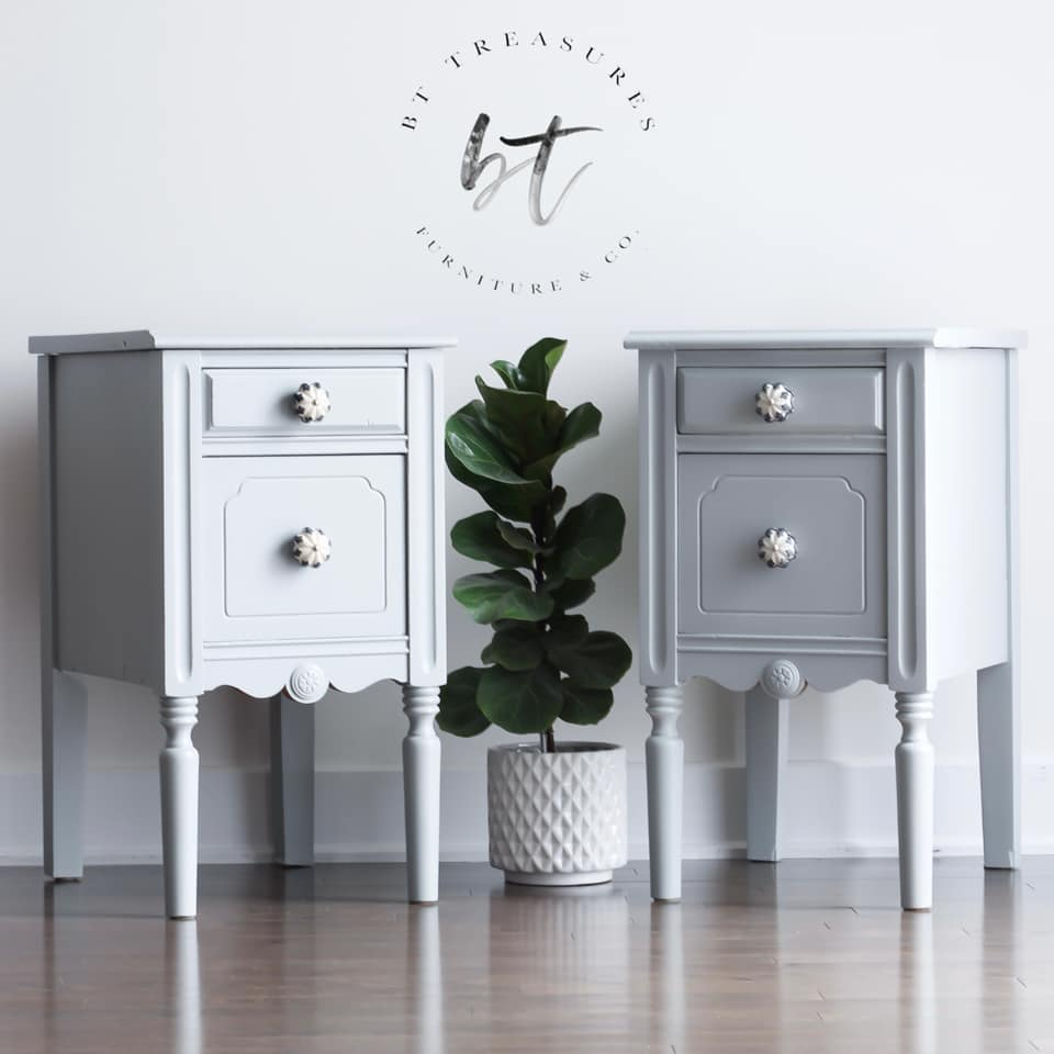 Decorative Side/Storage Tables in Lazy Linen