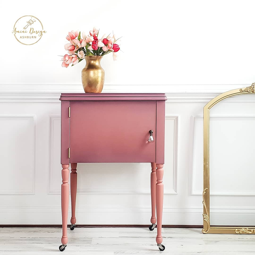 Accent Table in Peachy Keen