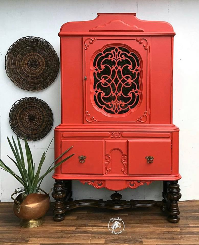 Ornate Armoire in a mix of Devotion and Razzle Dazzle with Black Wax