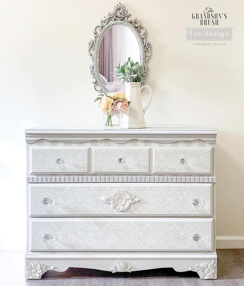 Lace and Frills Dresser in Lazy Linen