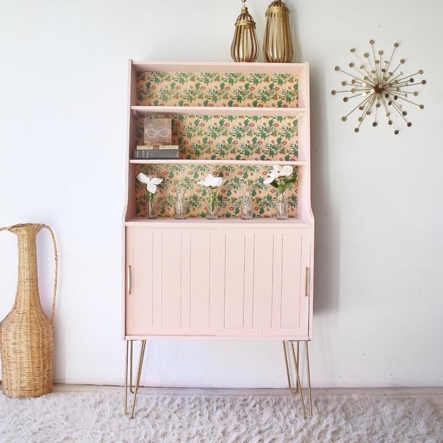 Mid-Century Modern Storage Cabinet in Ooh La La