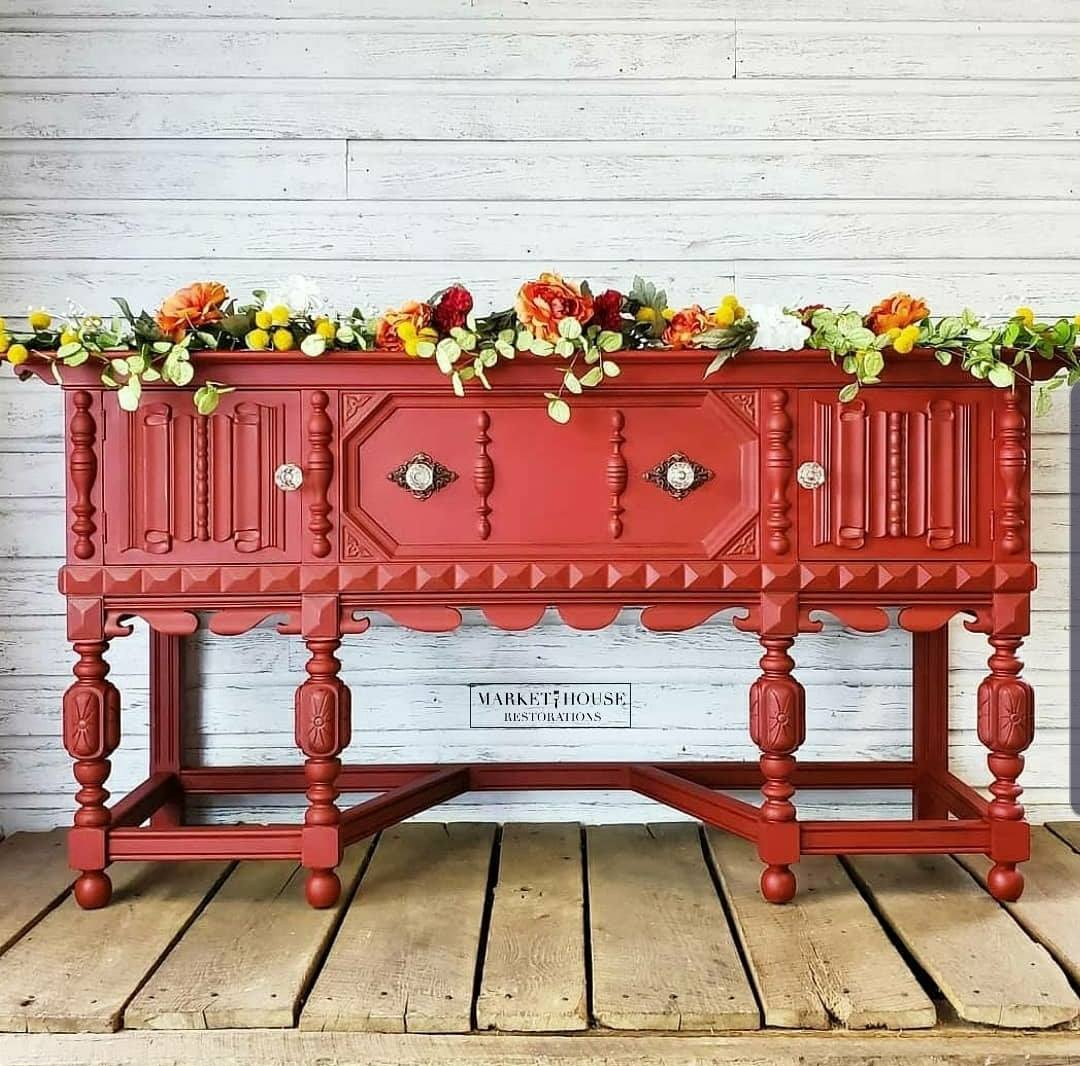 Ornate Vintage Buffet in Paint The Town