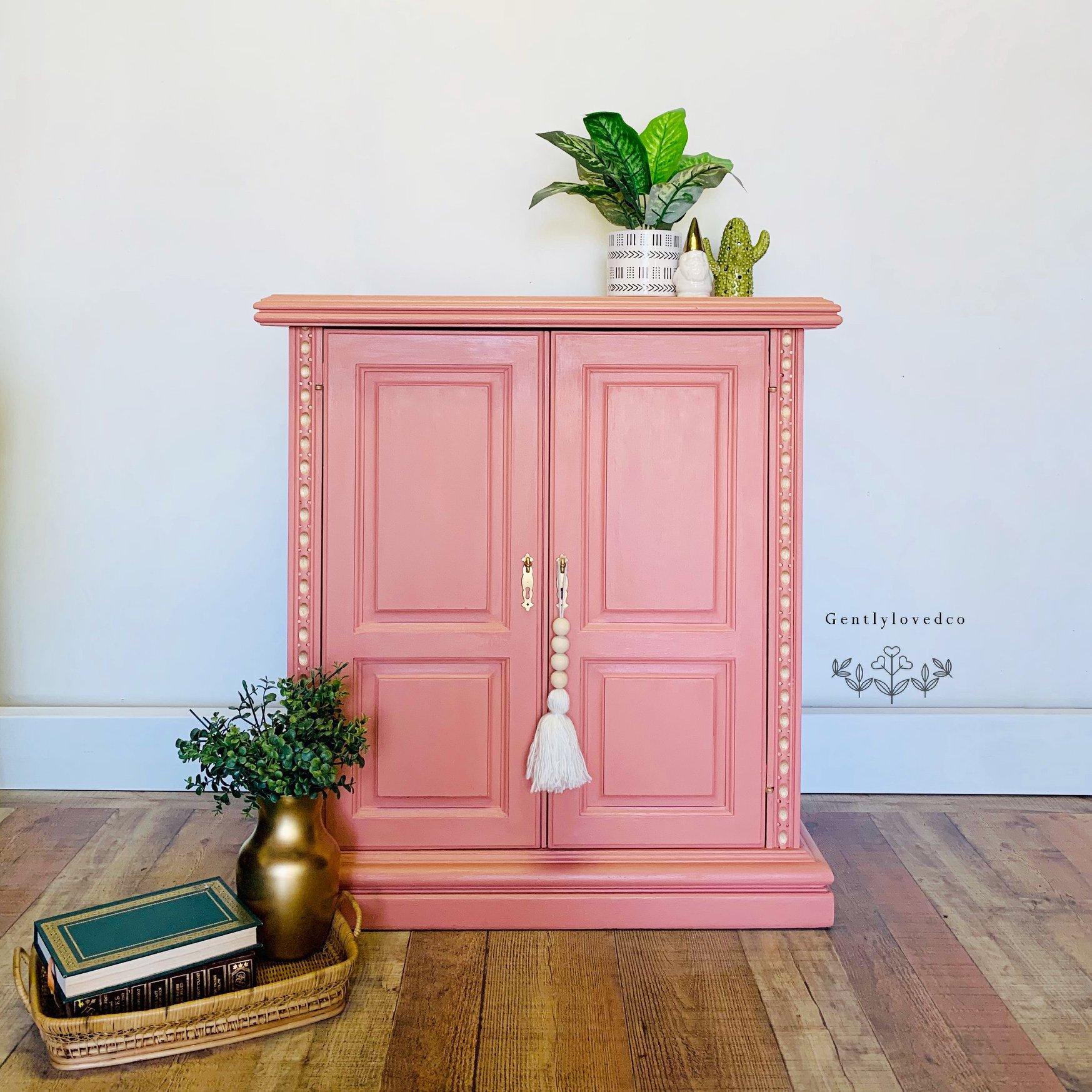 Two-Door Cabinet in Peachy Keen