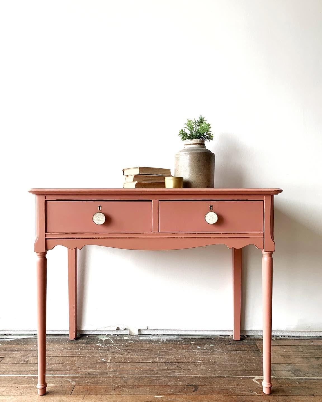 Petite Desk in Peachy Keen