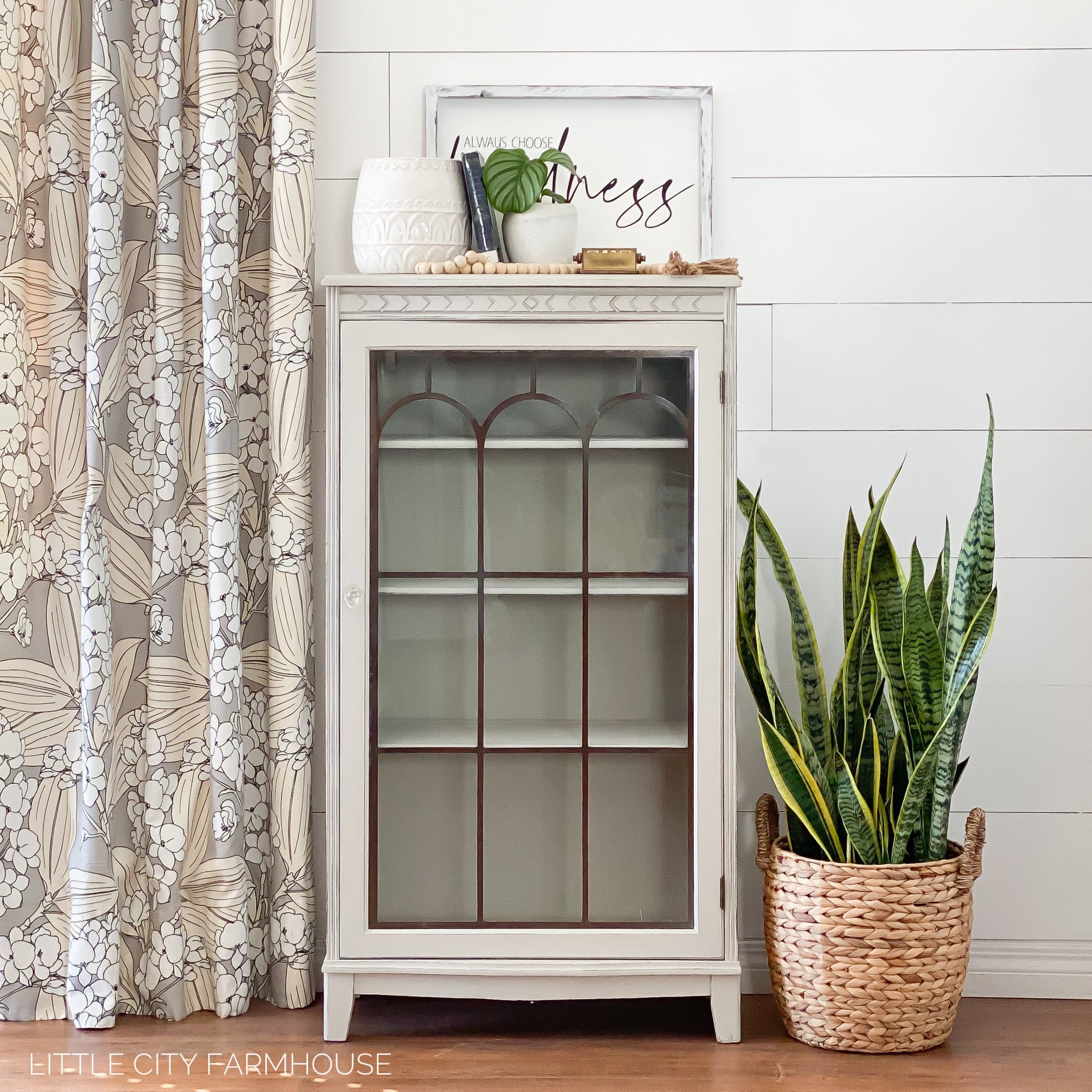 Accent/Storage Cabinet in Pop The Bubbly with Glass Door