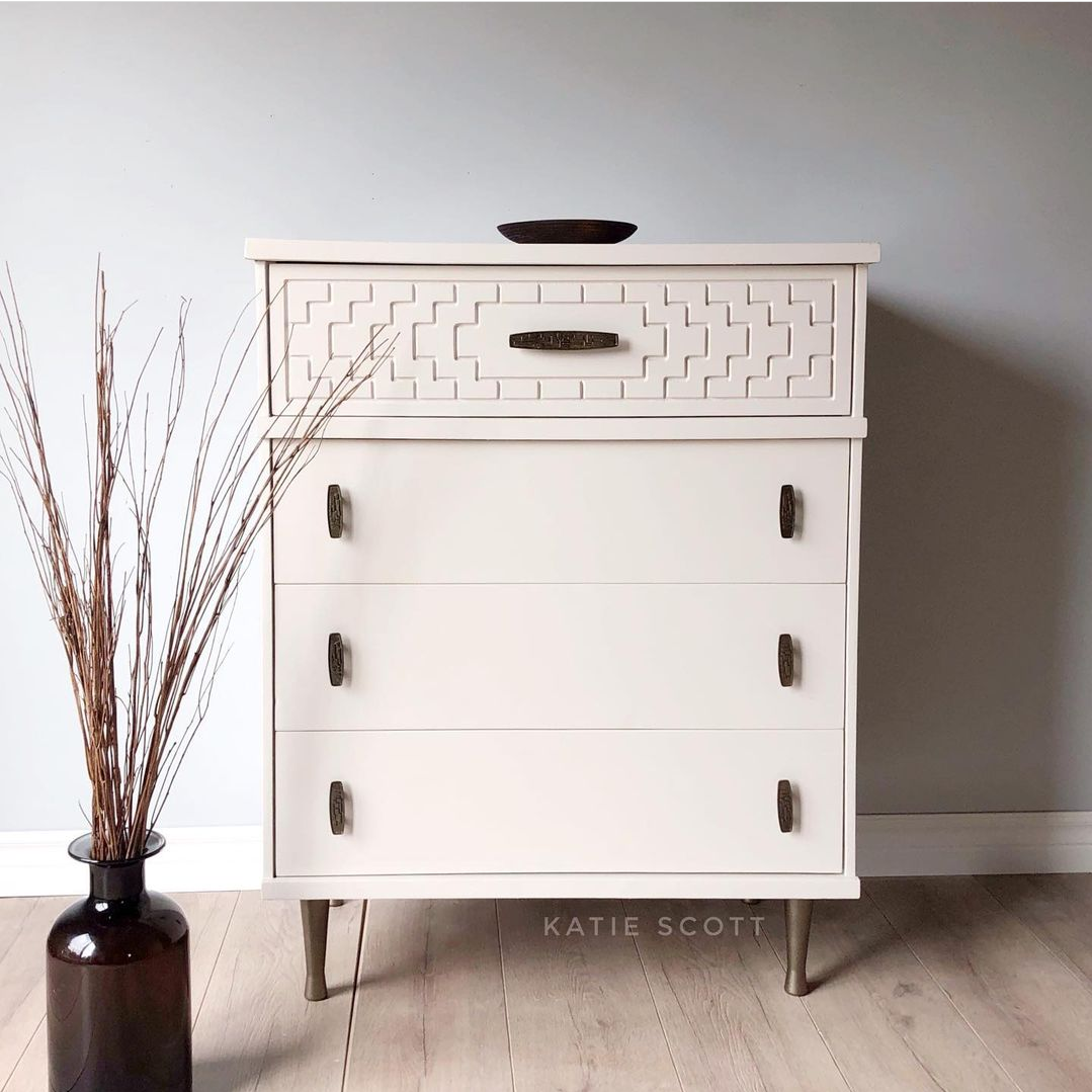 Modern Dresser in Pop The Bubbly/Simplicity with Black Accents