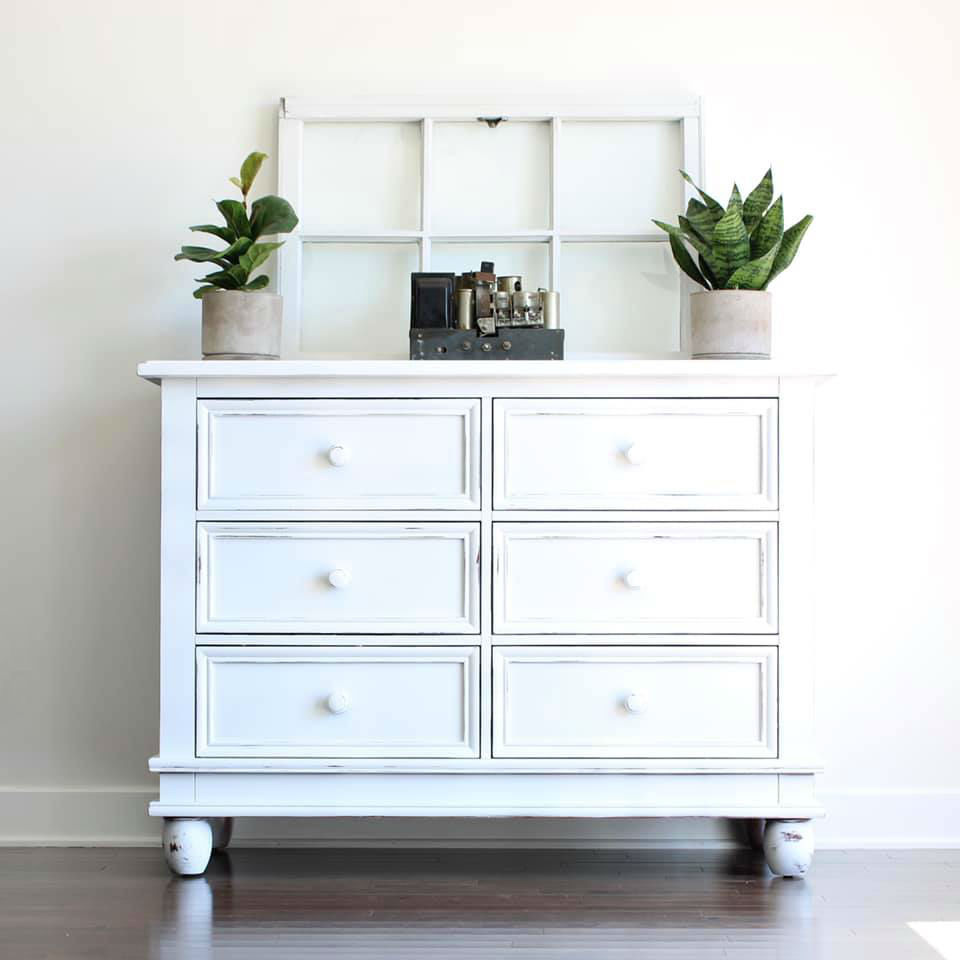 Top 10 paint colors from Country Chic Paint - Six Drawer Storage Cabinet in Simplicity