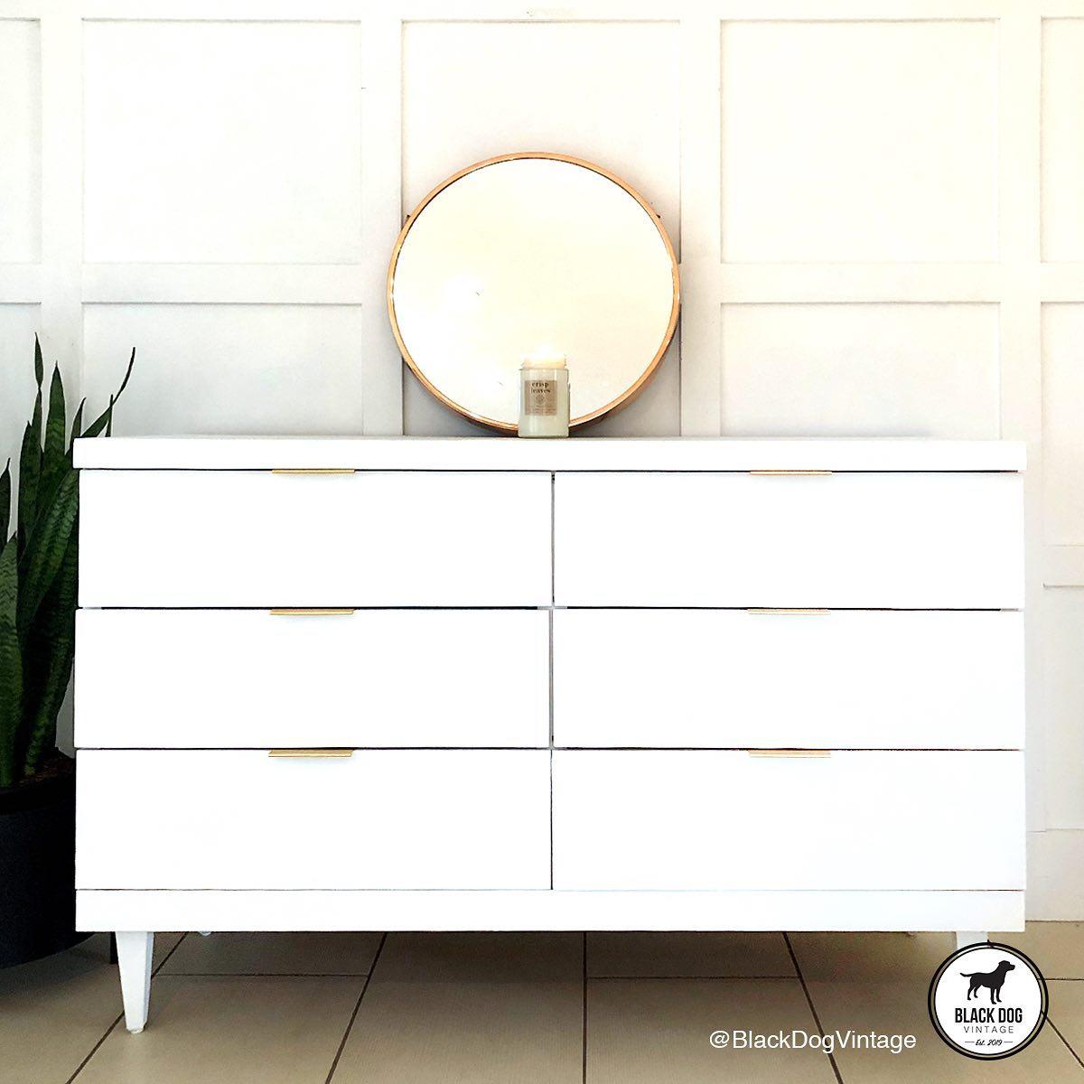 Mid-Century Modern Six Drawer Dresser in Simplicity