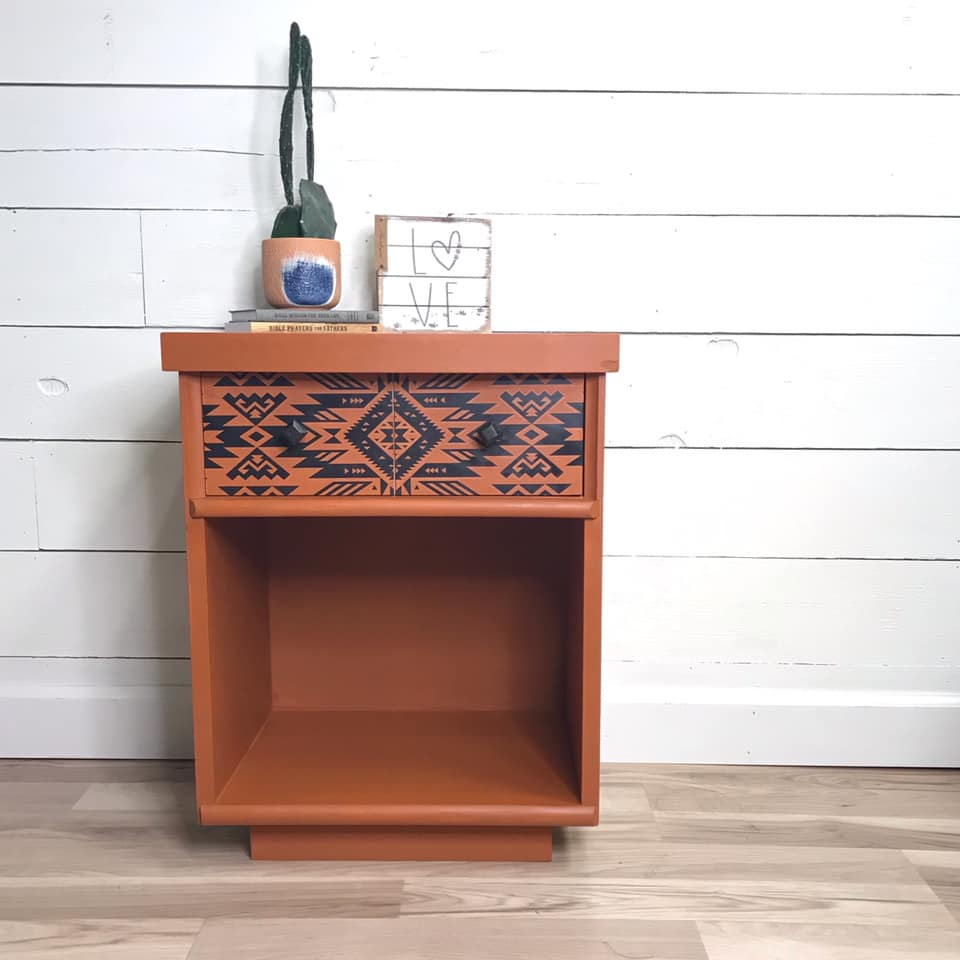 Accent Table in With A Twist with Decorative Drawer