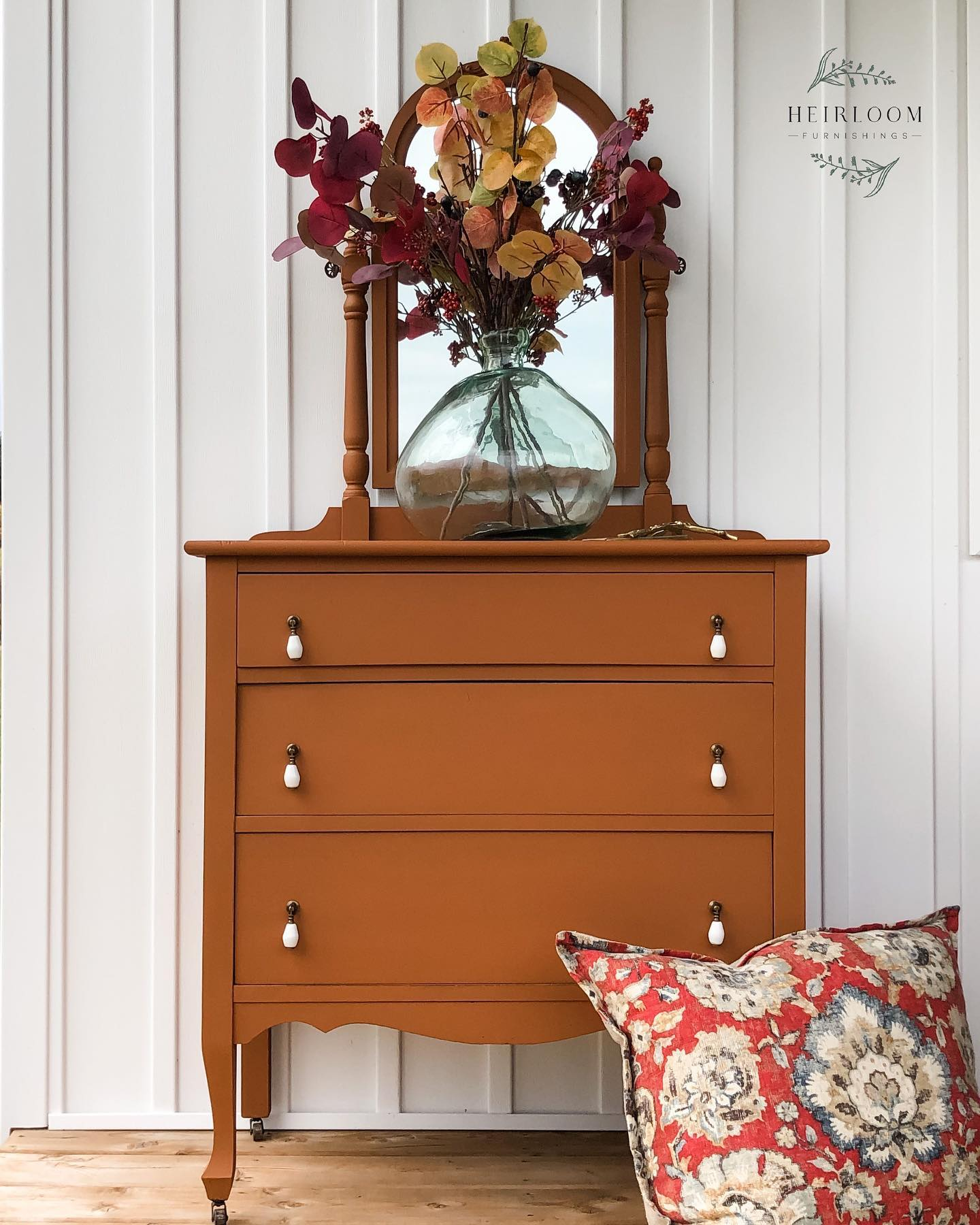 Three Drawer Dresser with Mirror in With a Twist