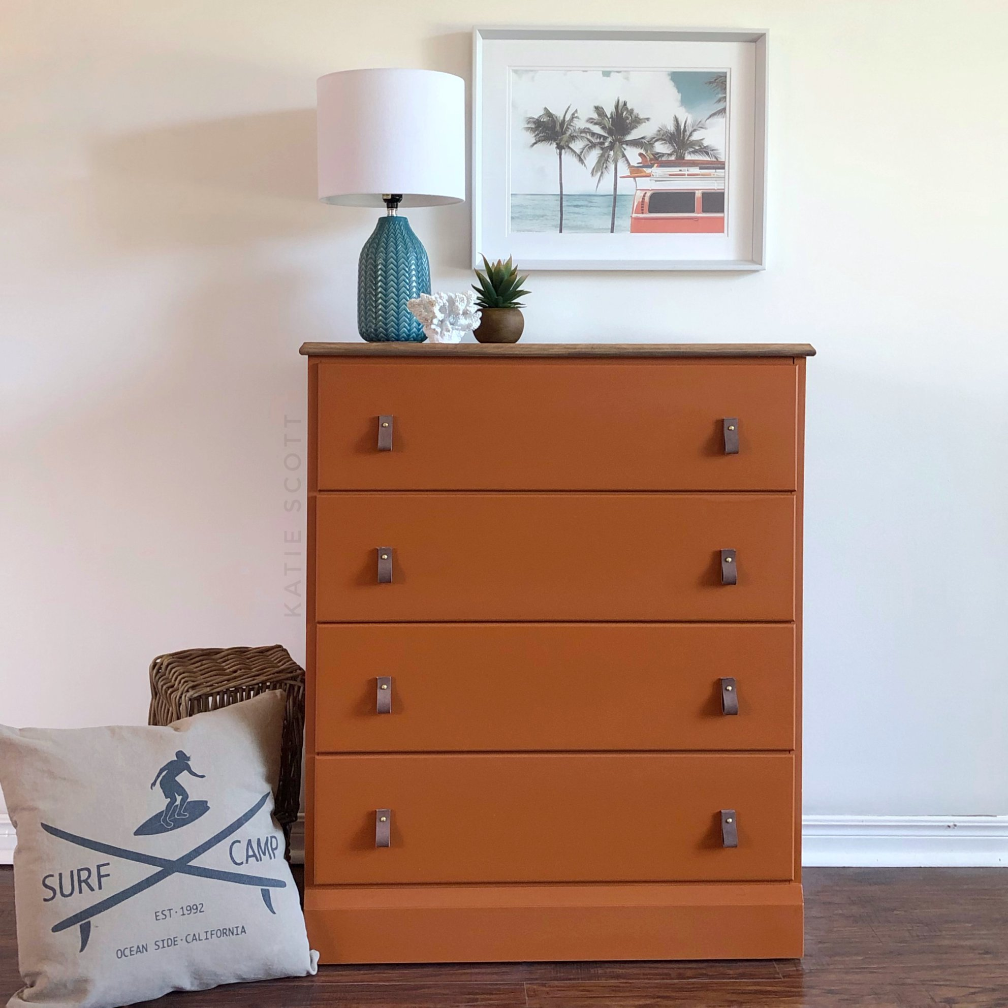 Tall Dresser in With a Twist with Leather Pulls