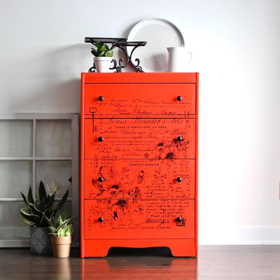 Tall Four Drawer Dresser in Devotion