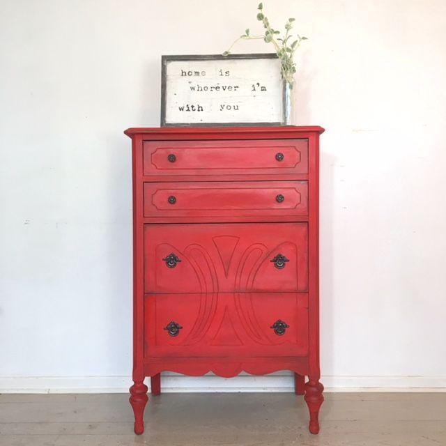 Tall Dresser in Devotion with Black Wax