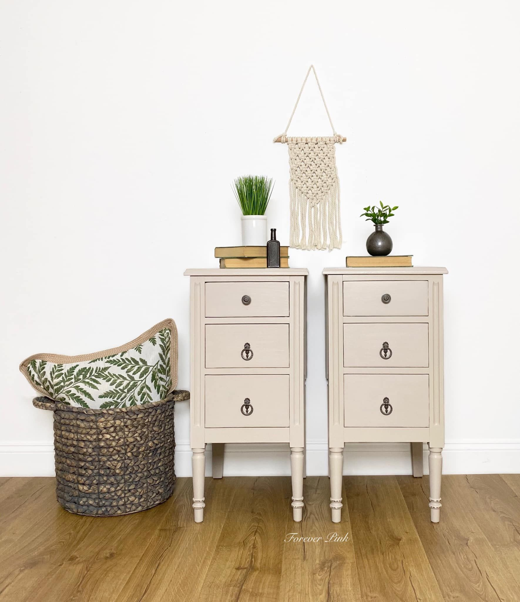 Pair of Accent/Storage Tables in Pop The Bubbly