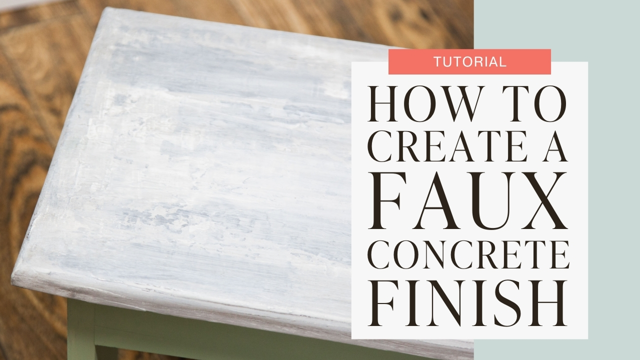 How to create a faux concrete finish tutorial graphic