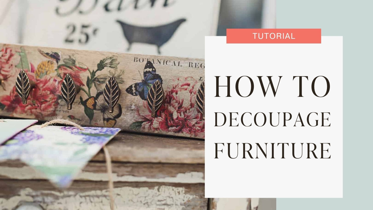 How to decoupage furniture tutorial graphic
