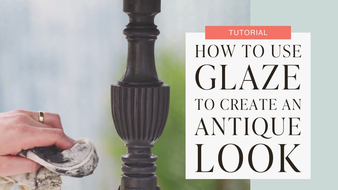 How to use glaze to create an antique look tutorial graphic