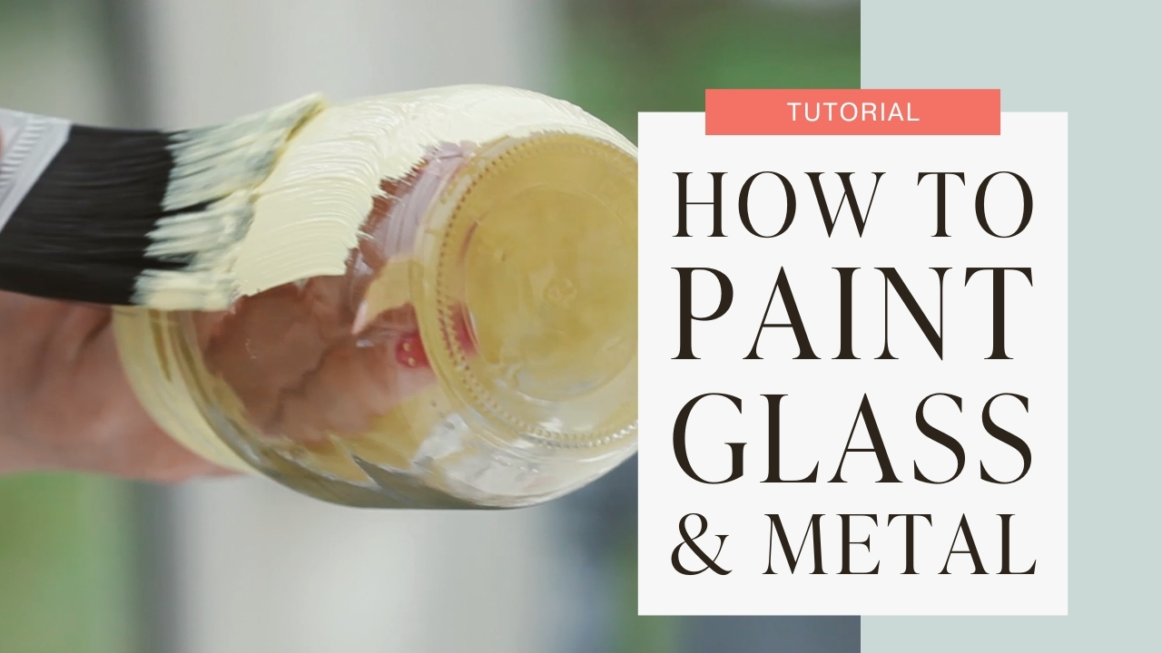 How to paint glass and metal tutorial graphic