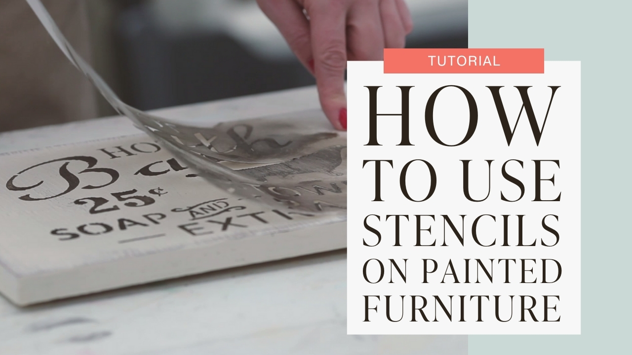 How to use stencils on painted furniture tutorial graphic