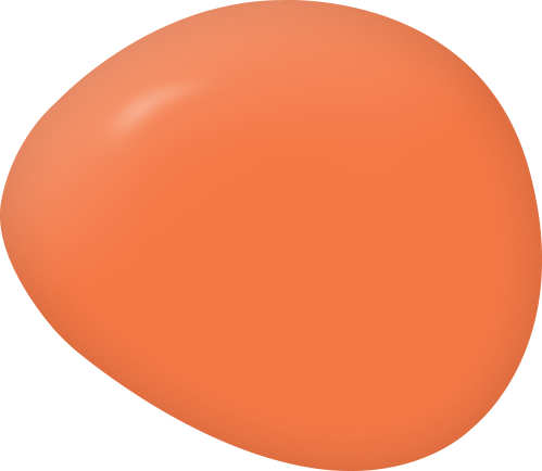 Persimmon bright orange paint color swatch by Country Chic Paint
