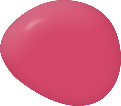 Raspberry Sorbet bright pink paint color swatch by Country Chic Paint